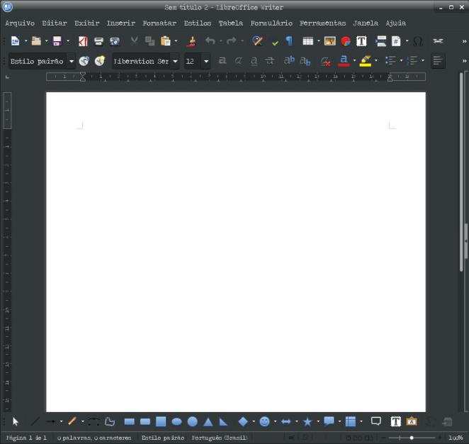 Como adicionar tema no LibreOffice - LibreOffice tema padrão do sistema