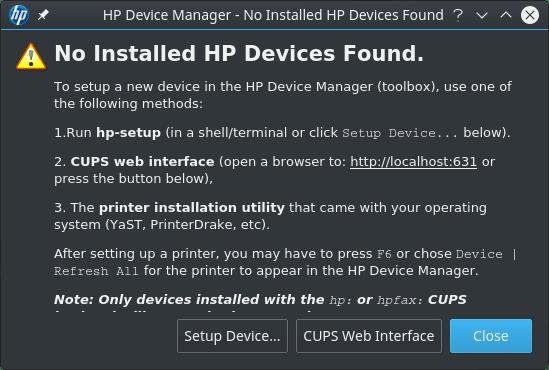 Instalar impressora HP no FreeBSD - HP Device Manager