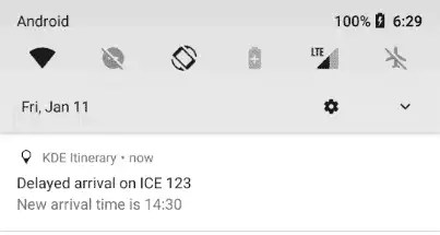 KDE Notifications no Android
