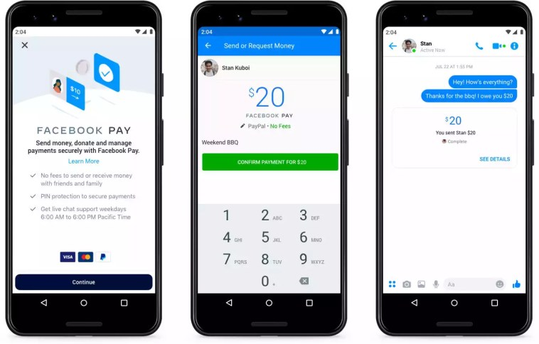 Facebook introduz sistema de pagamento Facebook Pay