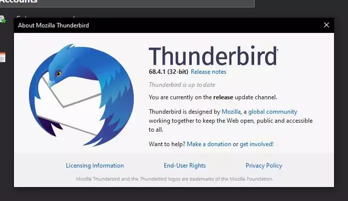 Mozilla Thunderbird 68.4.1 lançado para Linux, Windows e Mac