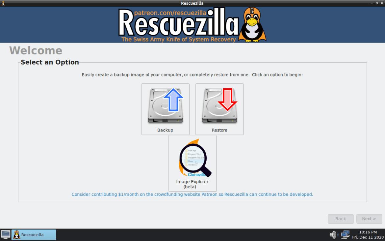 Rescuezilla 2.1 facilita a extração de arquivos de backups