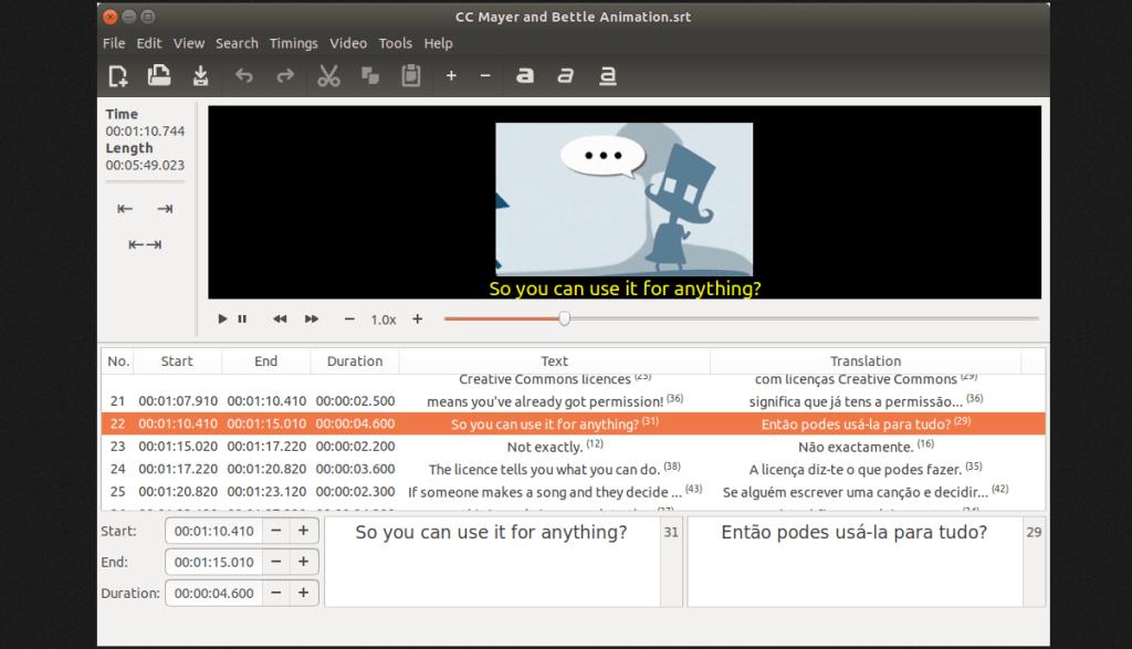 GNOME Subtitles obtém uma grande atualização após dois anos