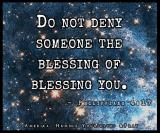 Do not Deny blessing