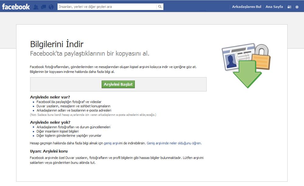 Facebook indirmek