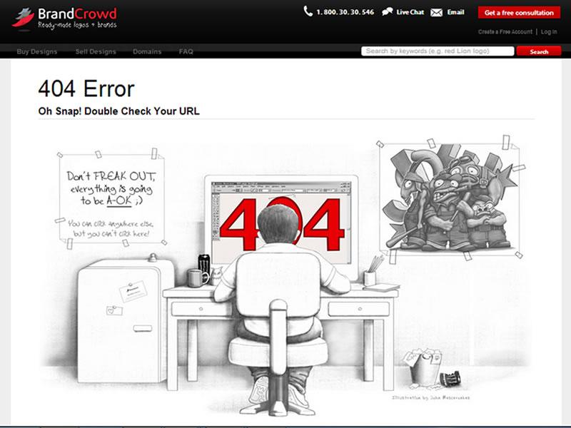 brand crowd 404 sayfası