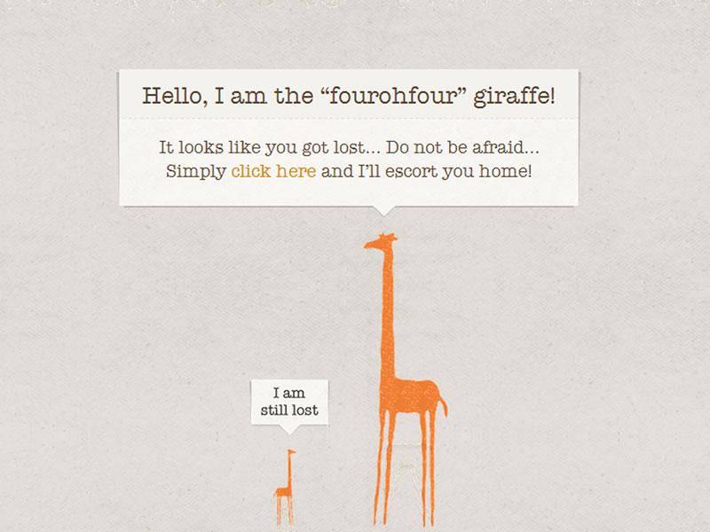 giraffe 404 sayfası