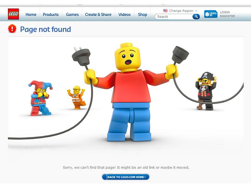 LEgo 404 sayfası