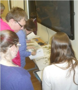 RVCC students present a workshop on identifying invasive plant species to citizen scientists. Photo by Jay Kelly.