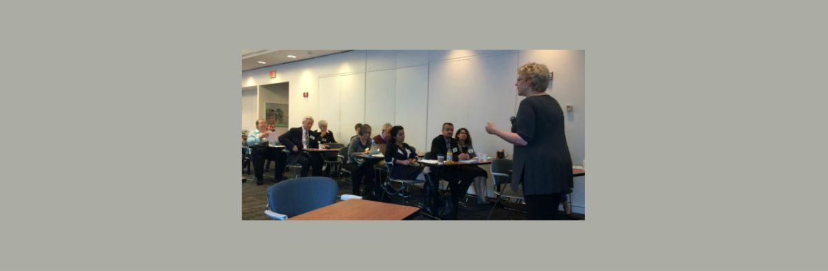 NCSCE Executive Director Eliza Reilly Delivers Welcome at Ecosystem of Science Communication Meeting, where participants explored conflicts between scientific knowledge and personal or political identity.