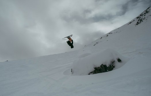 Lauren Abernathy Backflip skiing
