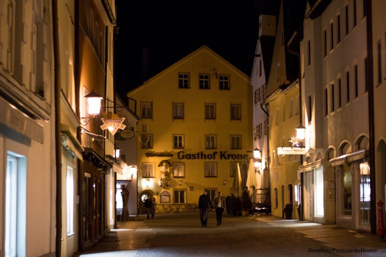 Fussen at night