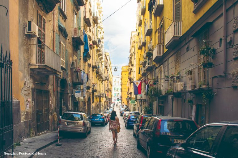 Postcard from Naples & the best pizza places - Streets of Napoli, Italy 7