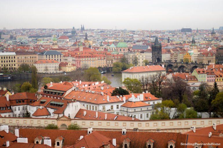 Top View Prague Orange Roof