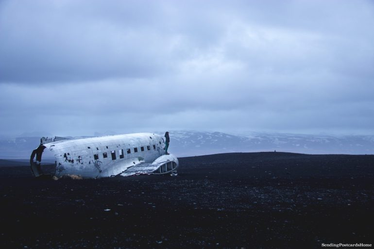 Itinerary for winter / spring road trip in Iceland - DC 3 plane wreckage