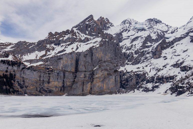 Frozen Lake Oeschinensee, Interlaken Switzerland