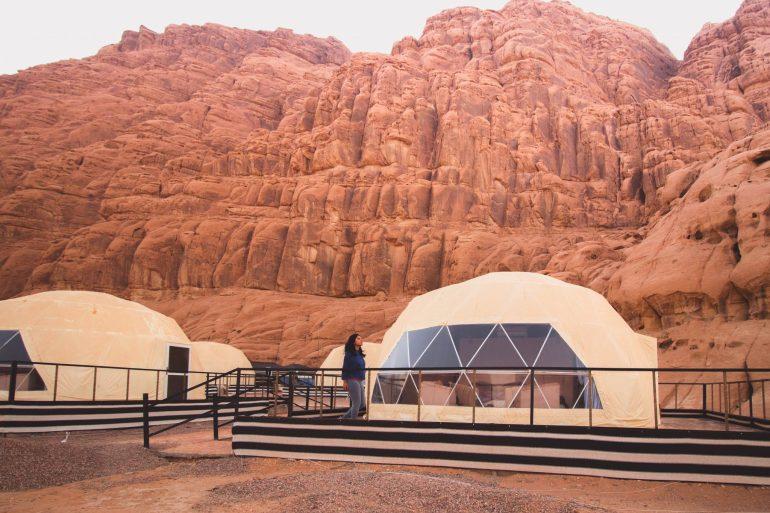 Martian tent in Jordan