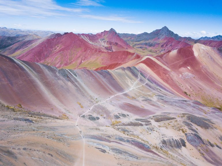 Rainbow Mountain hike - Drone view