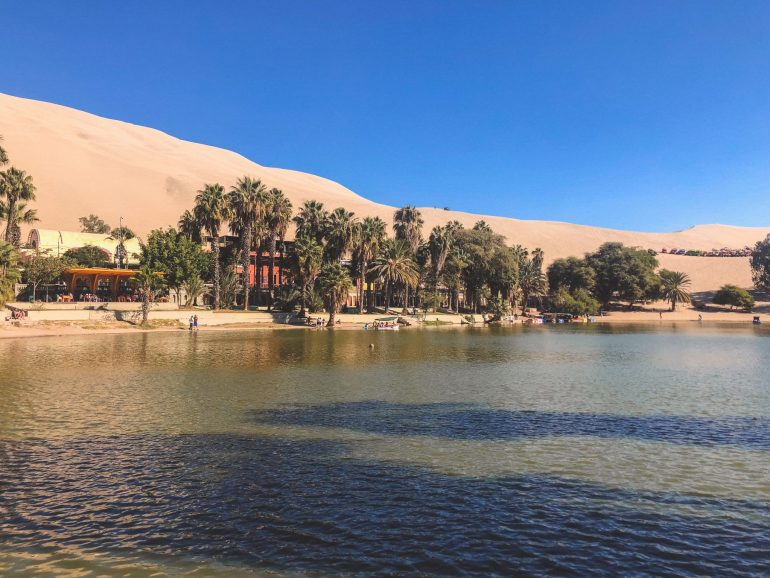 Huacachina, oasis in south america