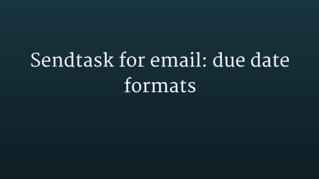 Due-date-formats