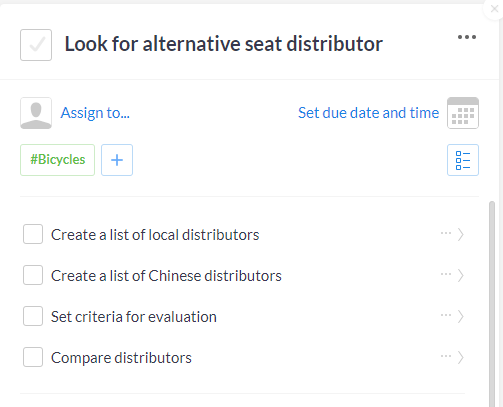 Subtasks-distributors