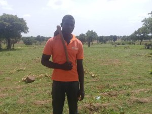 Jiamoaka is a contract farmer in Nanyiar, North East Region  Photo Credit: SEND GHANA