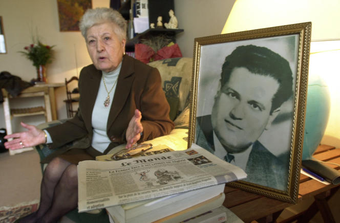 Malika Boumendjel, widow of Ali Boumendjel, at her home in Puteaux on May 5, 2001, demanded the truth.