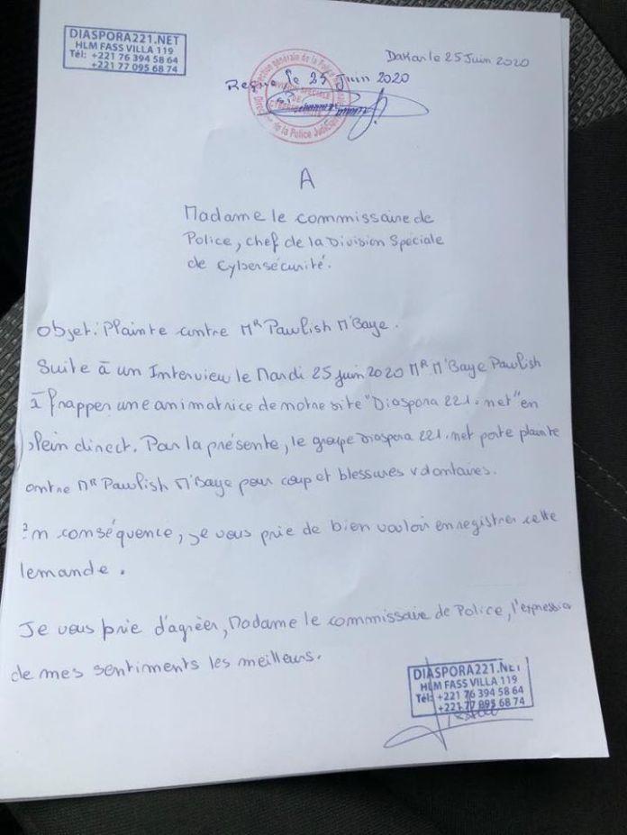 Agression d'une journaliste : Une mauvaise nouvelle de dernière minute pour Pawlish Mbaye
