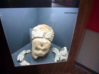 マカカラ仏の残骸らしきモノの展示