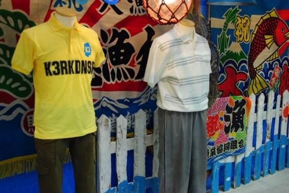 ストーブのK3RKDNSPポロシャツと足立先生衣装