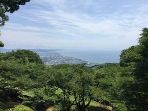 石垣山城から小田原の展望