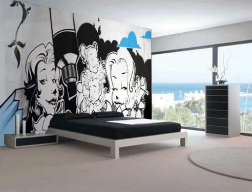 Da Rua Para As Casas Grafite Na Decorao Senhoras Na Moda
