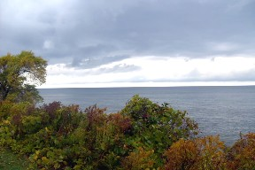 Lake Ontario at 30 Mile Point, New York.  October 25, 2008.