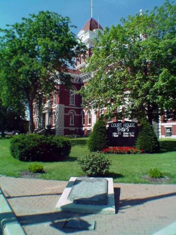 The old Lake County Courthouse, Crown Point, Indiana.  July, 2000.