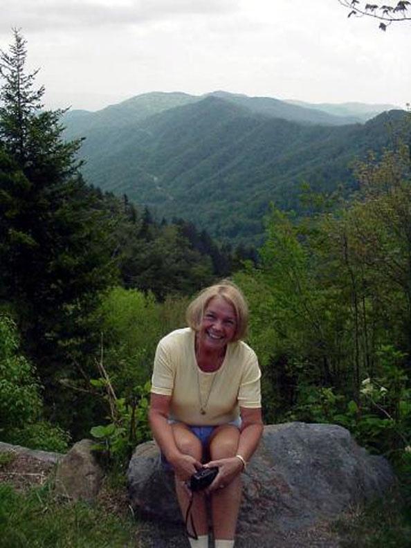 Betsy at Newfound Gap, GSMNP.  May 19, 2001.