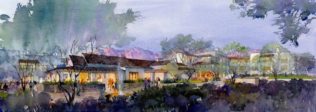 Rendering of Hacienda at the Canyon clubhouse