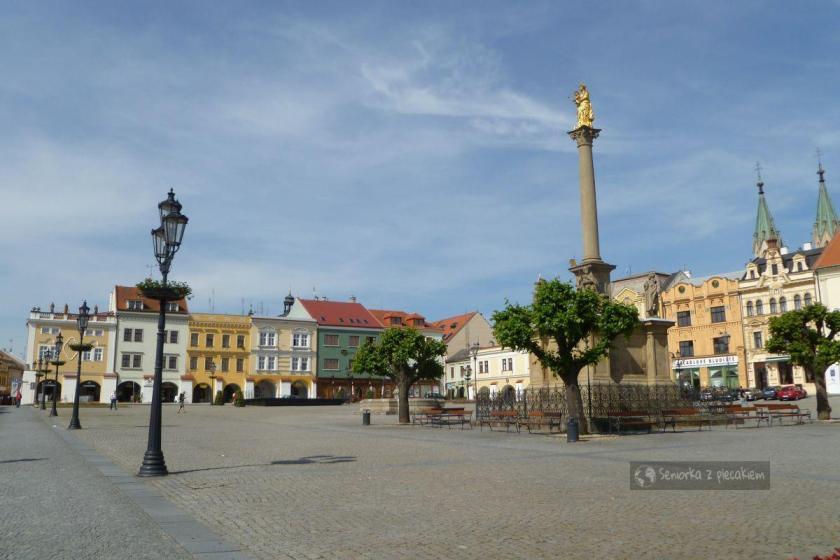 Kolumna zarazy na rynku w Kromeriż