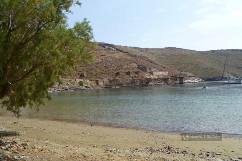 Pozostałości po wydobyciu rud w Megalo Livadi na Serifos