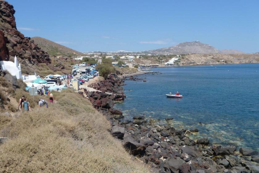 Plaża czerwona na Santorini