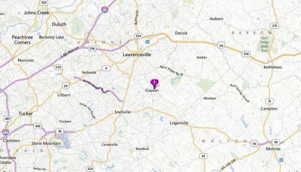 Grayson Map Olde Town Grayson Neighborhood Location