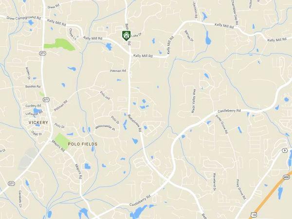 Cumming GA Map Location Villas At Bethelview