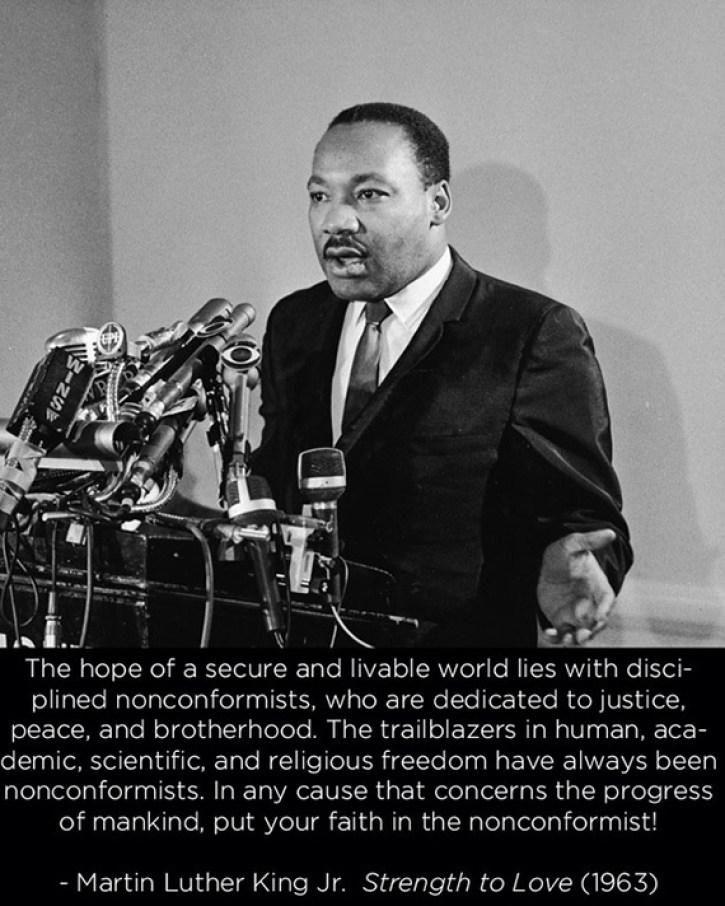 King on nonconformists quote