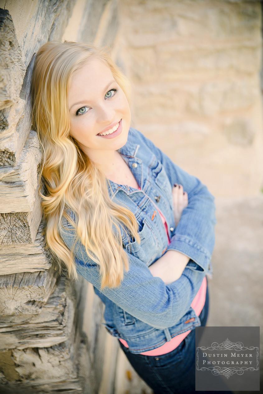 unique senior portrait ideas blonde female high school photos