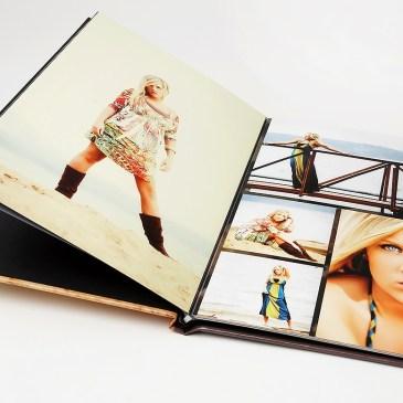 senior photography portraits lay flat book album