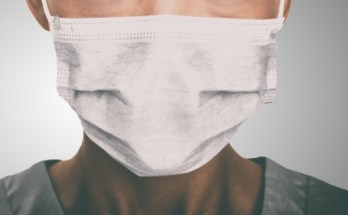 Face mask to protect vulnerable people against coronavirus in shared public spaces