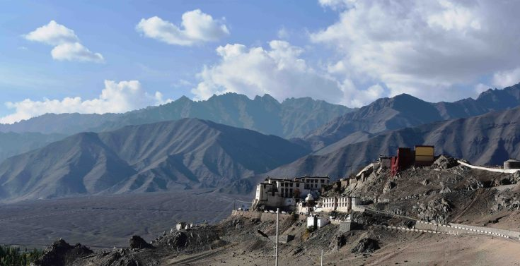 The Spitok Gonpa, which you can see while landing into Leh