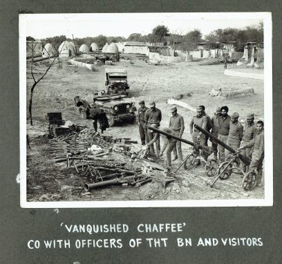 Captured Pakistani weapons during the Battle of Garibpur