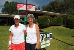 Carolyn and Sally before GB match
