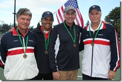 USA Austria Cup team with medals