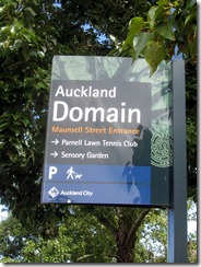 Auckland domain sign
